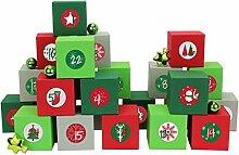 Papierdrachen 24 Adventskalender Kisten - mit