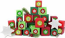 Papierdrachen 24 Adventskalender Kisten - zum