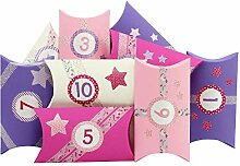 Papierdrachen 24 Adventskalender Pillowboxen - mit
