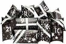 Papierdrachen 24 Adventskalender Pillowboxen - mit