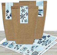 Papierdrachen Adventskalender Set - 24 braune