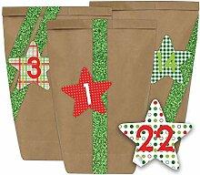 Papierdrachen Adventskalender zum Befüllen - 24