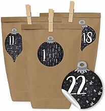 Papierdrachen DIY Adventskalender - 24