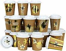 Papierdrachen DIY Adventskalender Kaffee-Becher -