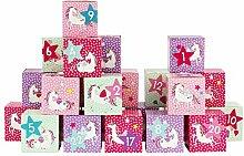 Papierdrachen DIY Adventskalender Kisten Set -