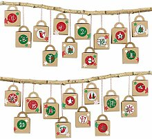 Papierdrachen DIY Adventskalender zum Befüllen -