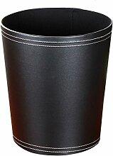 Papierkörbe, Foxom PU Leder Große Kapazität Papierkörbe Abfalleimer Mülleimer Mülltonne für Küche und Büro Benutzen (Schwarz)