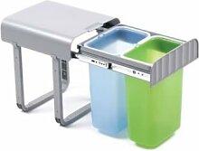 Papierkorb aladin-2Ziehen Küche Mülleimer 400mm