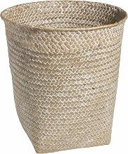 Papierkorb aus geflochtener Pflanzenfaser, H