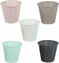 Papierkorb aus Kunststoff Retro Papiereimer Abfalleimer Eimer Mülleimer rosa