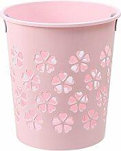 Papierkorb Büro, Vicoki Papierkorb Plastic Mülleimer Haushalts Trash Can ohne Deckel, 29x21x31cm (Rosa)