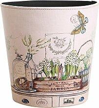 Papierkorb, FOKOM Vintage PU Leder Papierkorb