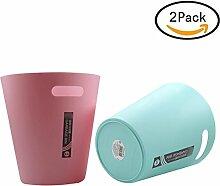 Papierkorb, Foxom 2 Stück 3.6L Haltbar Abfalleimer Mülleimer Mülltonne Papierkorb für Büro/Badezimmer/küche/Schlafzimmer