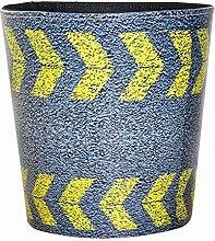 Papierkorb, Foxom PU Leder Vintage Abfalleimer Mülleimer Mülltonne Papierkorb für Büro/Badezimmer/küche/Schlafzimmer Deko (TY-2)