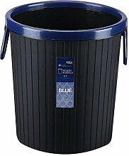 Papierkorb, iTECHOR Mülltonne Abfalleimer Runde Pressring Haushalt Büro Kunststoff Mülltonne mit Hubgriff, 27×24×24cm