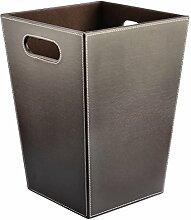 Papierkorb, iTECHOR PU Leder Abfalleimer Mülleimer Ashcan Ashbin Garbage Trash Can Papierkorb mit Henkel