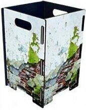 Papierkorb Mauerwerk mit Putz Photopapierkorb Mülleimer Büro Werkhaus