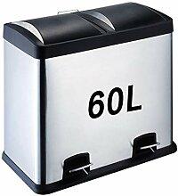 Papierkorb Mülleimer, Doppel-Recyclingbehälter