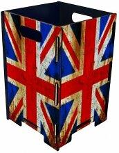 Papierkorb Union Jack Flagge Großbritannien Photopapierkorb Mülleimer Büro