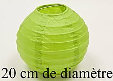 Papierlampe, apfelgrün, D: 20 cm