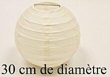 Papierlampe, creme, D: 30 cm