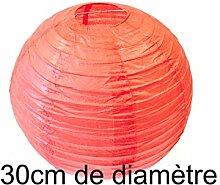 Papierlampe, rot, D: 30 cm