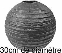 Papierlampe, schwarz, D: 30 cm