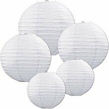 Papierlaterne 10 Stücke weiße Papier Laterne Lampion rund Lampenschirm Papierlampen Hochtzeit Party Dekoration Ballform 16