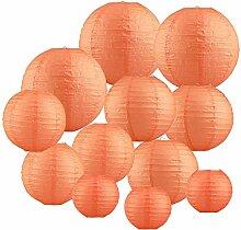 Papierlaterne 12 Stück Orange Papier Lampions
