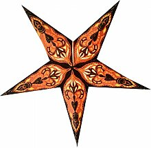 Papierstern Mali schwarz/orange dekorativer