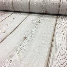 Papiertapete Holzdekor weiß