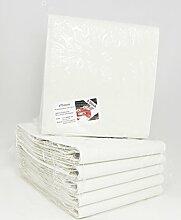 Papiertischdecke gefaltet • 30 Stück • weiß