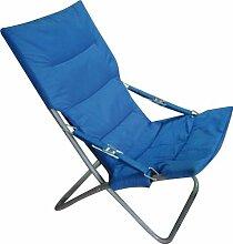 Papillon 8043505Gepolsterter Strandstuhl aus Metall, Blau