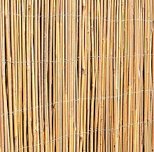 Papillon Bambusmatte Vollrohr Natur 100cm x 400cm