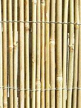 Papillon Bambusmatte Vollrohr Natur 120cm x 400cm