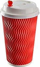 Pappbecher mit Deckel Einweg-Kaffeetasse