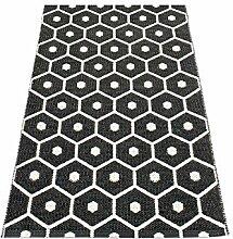 pappelina Teppich Honey schwarz 70x100cm