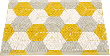 Pappelina - Trip Wendeteppich, 70 x 50 cm, mustard