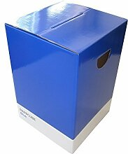 Papphocker blue blau Pappcube Falthocker UV-Lack Sitzhocker Stuhl Sitzung Hote