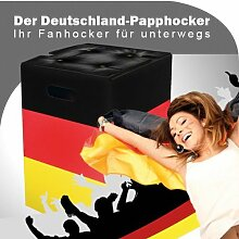 Papphocker - Deutschland Fahne - Hocker Stuhl aus Pappe