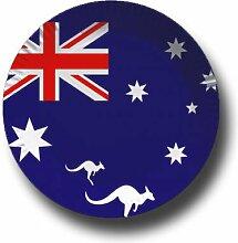 Pappteller mit Länderflaggen Motiv (Australien,
