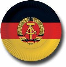 Pappteller mit Länderflaggen Motiv (Deutsche