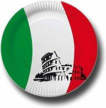 Pappteller mit Länderflaggen Motiv (Italien, 50)