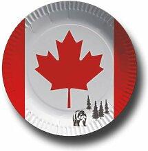 Pappteller mit Länderflaggen Motiv (Kanada, 50)