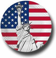 Pappteller mit Länderflaggen Motiv (USA, 50)