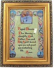 Papst Franziskus Päpstliche Segen in Antik Gold