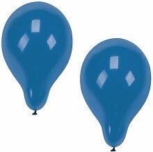 Papstar 1 Karton = 5x100 Luftballons Ø 25 cm blau