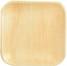 PAPSTAR 85514 Palmblatt-Teller Pure eckig, 255 x