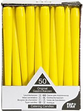 Papstar Leuchterkerzen / Halterkerzen gelb (50