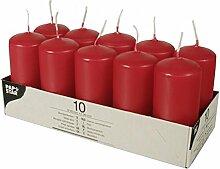 Papstar Stumpenkerzen / Säulenkerze Rot(10 Stück)